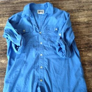 Coverage Blue Button Up
